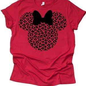 Cheetah Print Minnie Ear Unisex T-Shirt